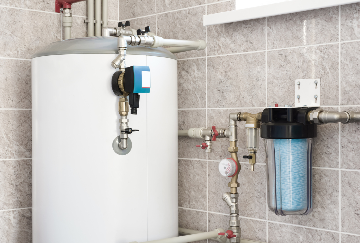Chauffe-eau dans une maison
