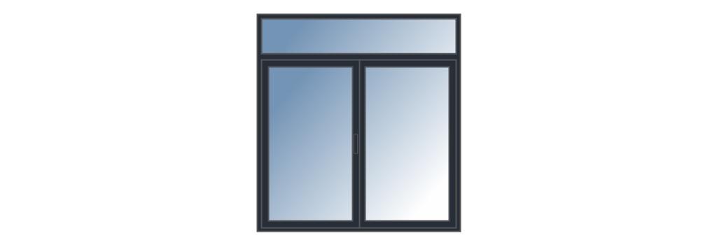 Fenêtre avec imposte sur mesure