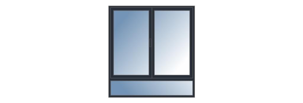 Fenêtre avec soubassement sur mesure