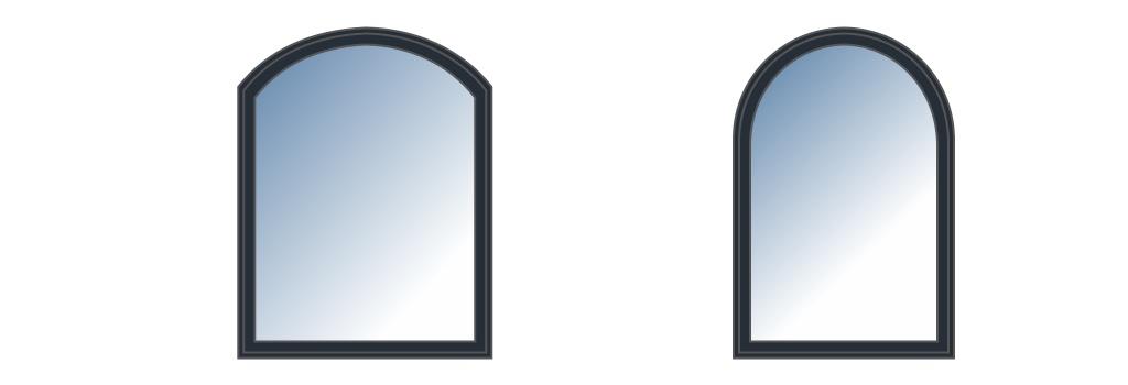 Fenêtre cintrée sur mesure