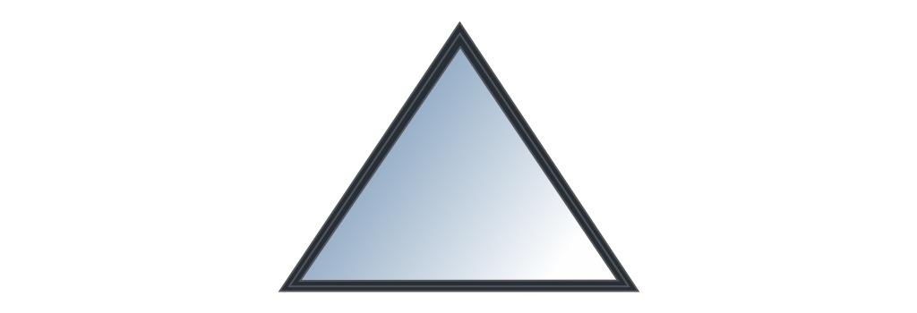 Fenêtre triangulaire sur mesure